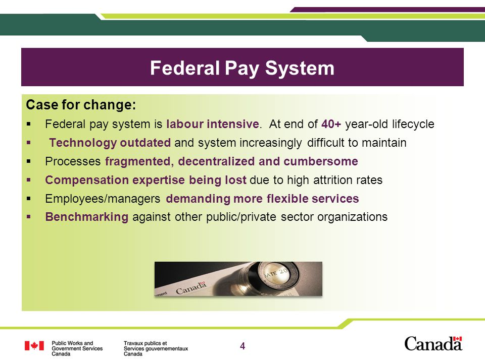 Federal Pay System Case for change: