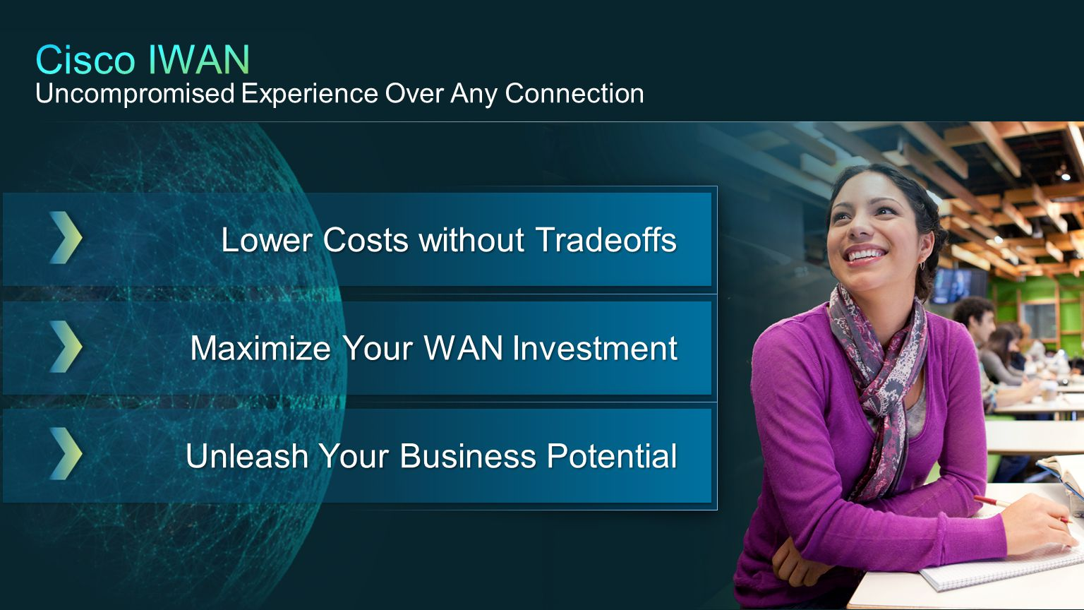 Cisco IWAN Uncompromised Experience Over Any Connection