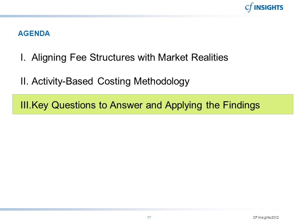 Aligning Fee Structures with Market Realities
