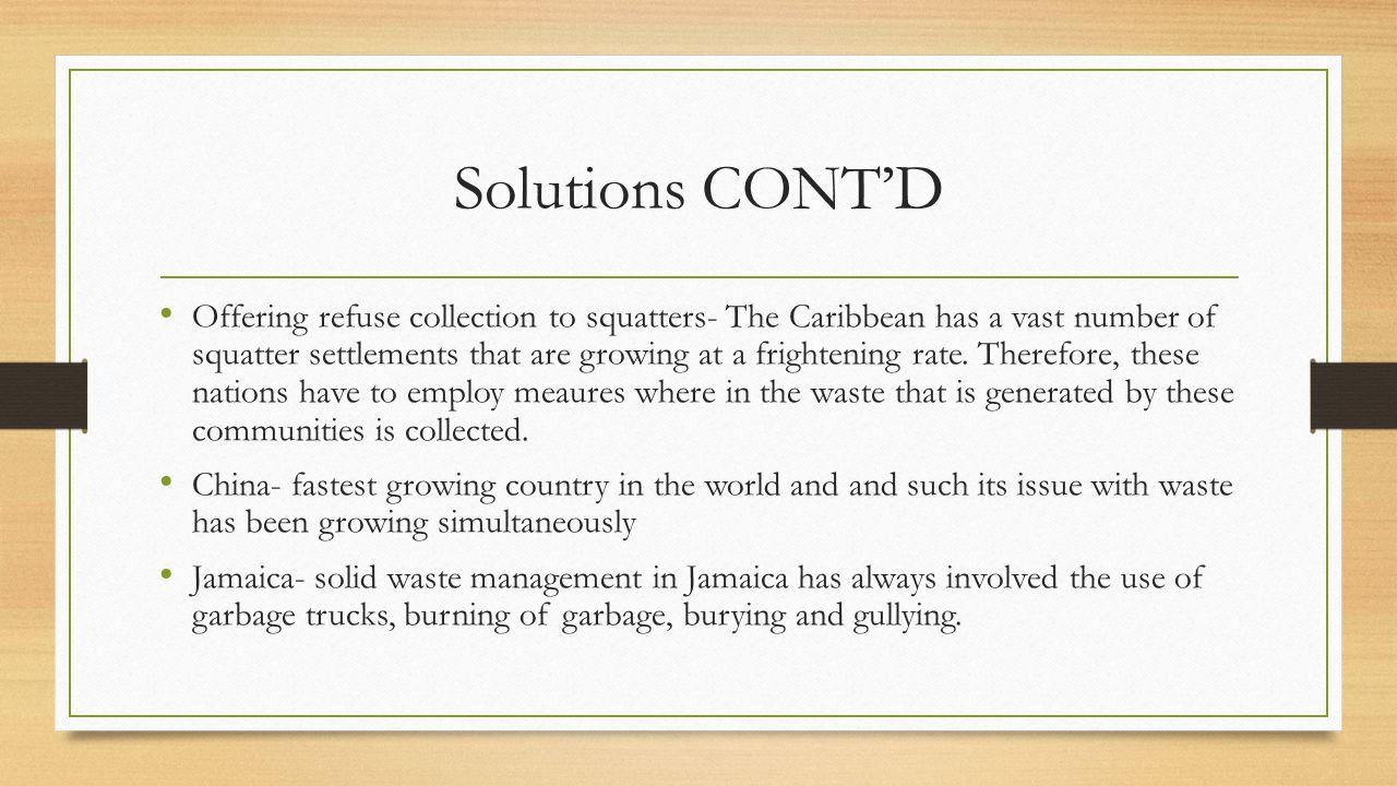 Solutions CONT'D