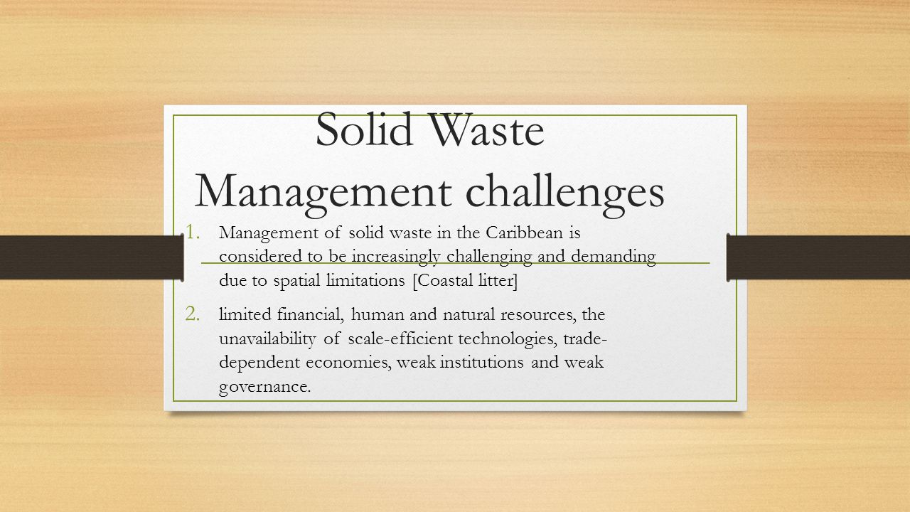 Solid Waste Management challenges