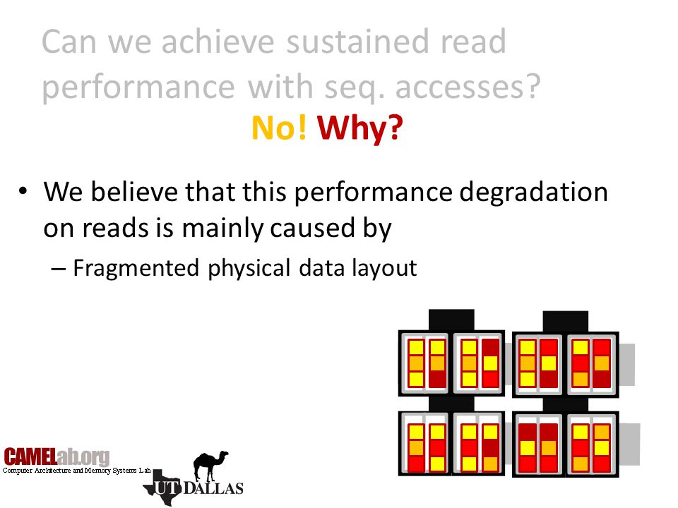 Can we achieve sustained read performance with seq. accesses