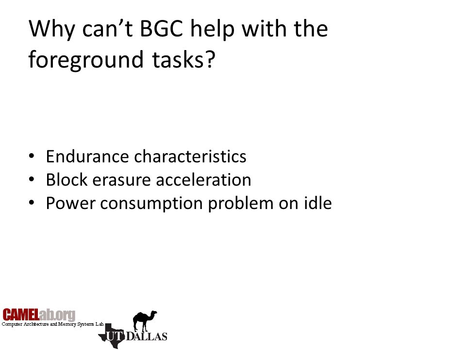 Why can't BGC help with the foreground tasks