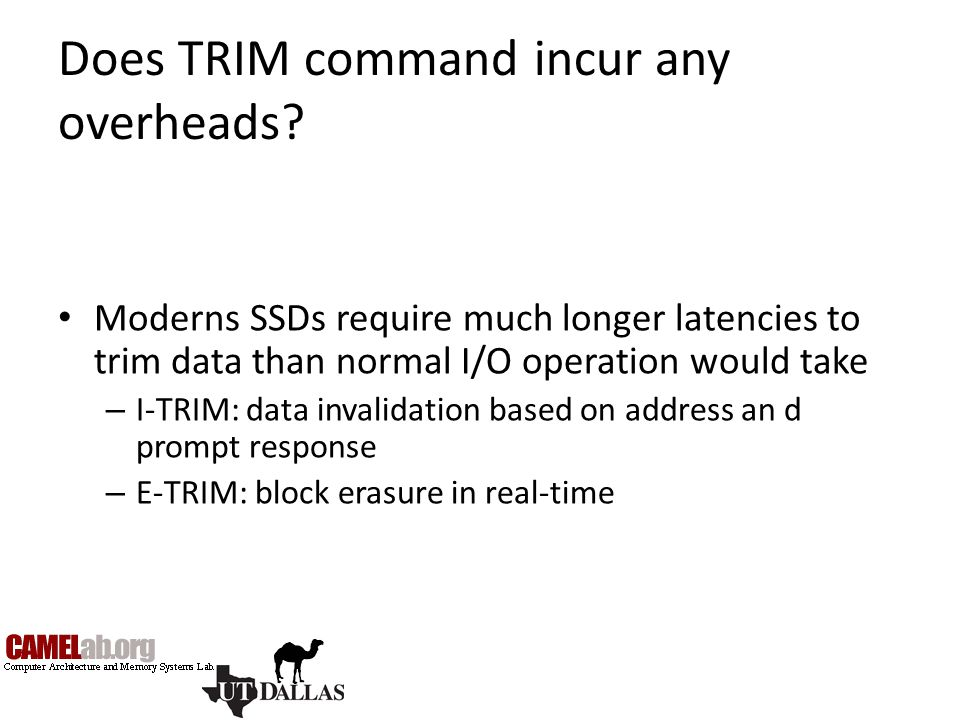 Does TRIM command incur any overheads