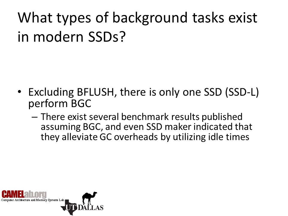 What types of background tasks exist in modern SSDs