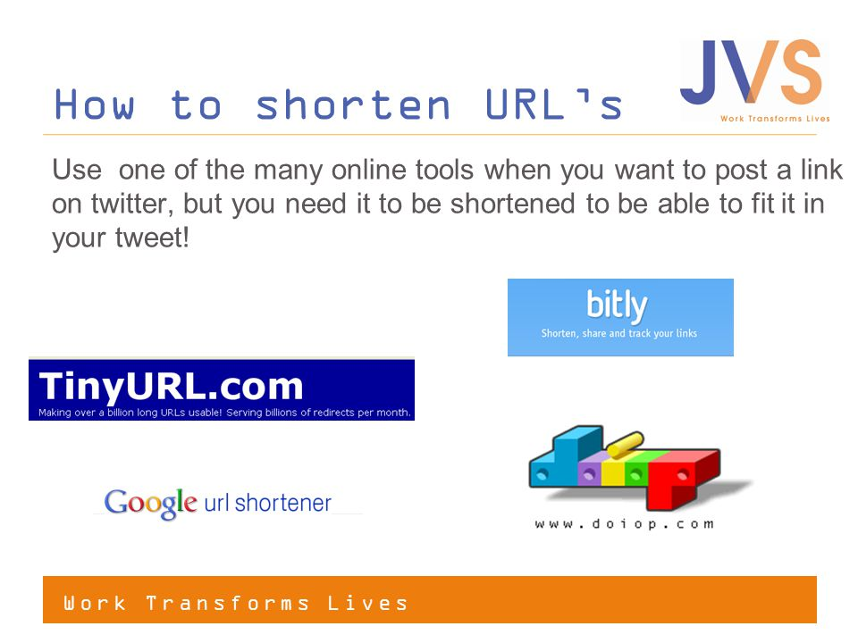How to shorten URL's