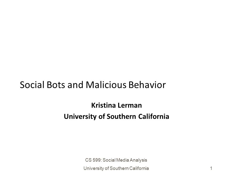 Social Bots and Malicious Behavior