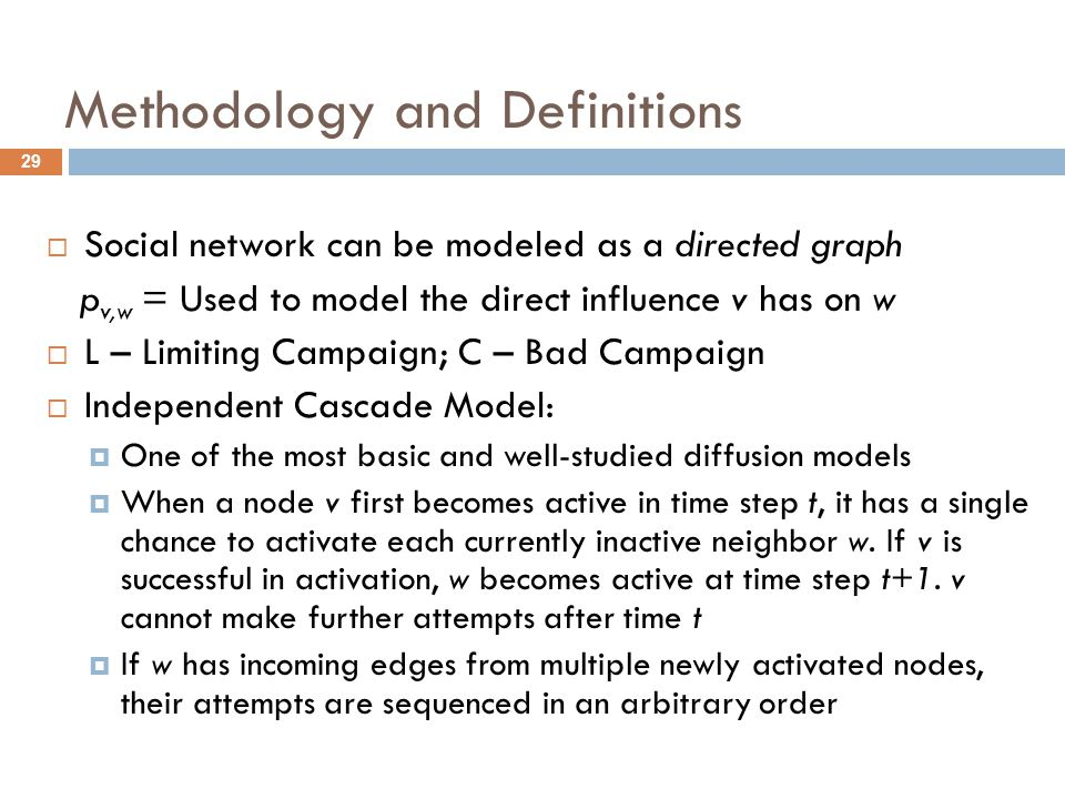 Methodology and Definitions