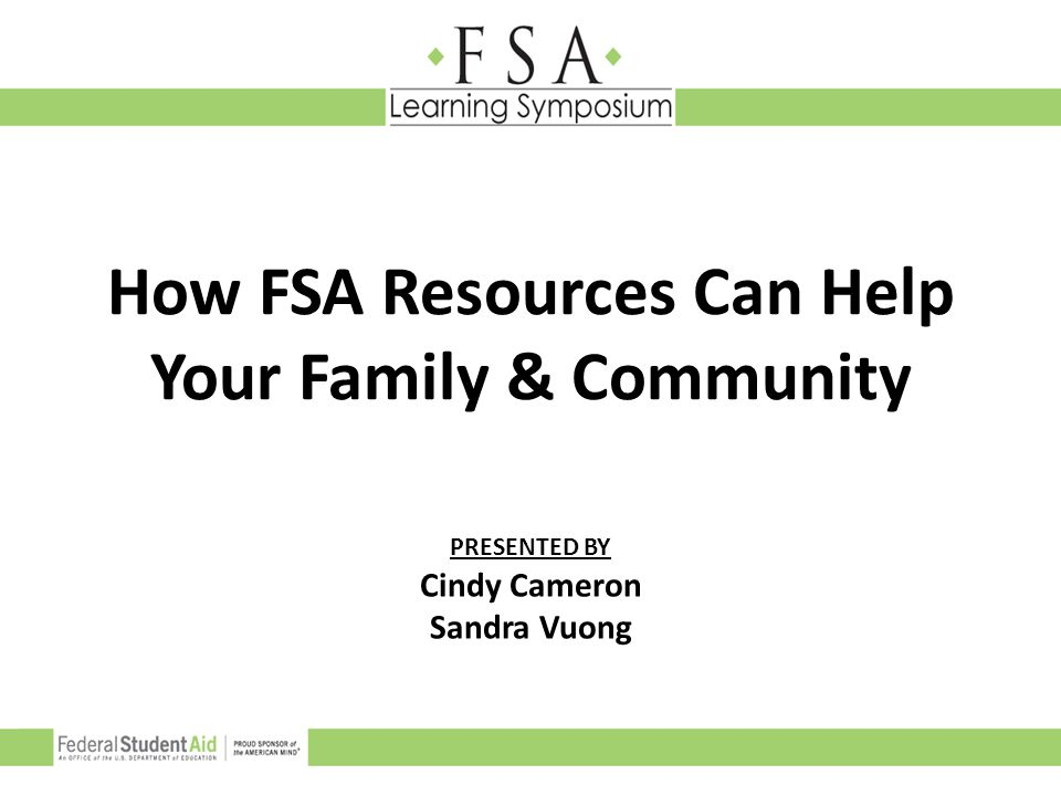 How FSA Resources Can Help Your Family & Community