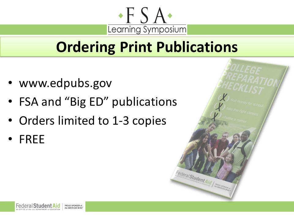 Ordering Print Publications