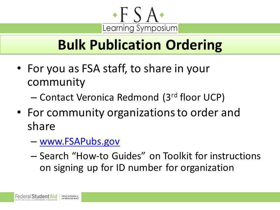 Bulk Publication Ordering