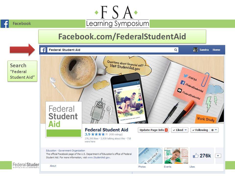 Facebook.com/FederalStudentAid