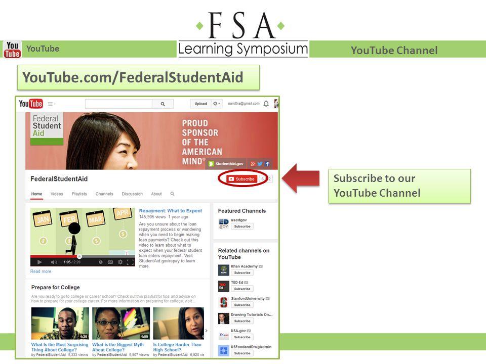 YouTube.com/FederalStudentAid