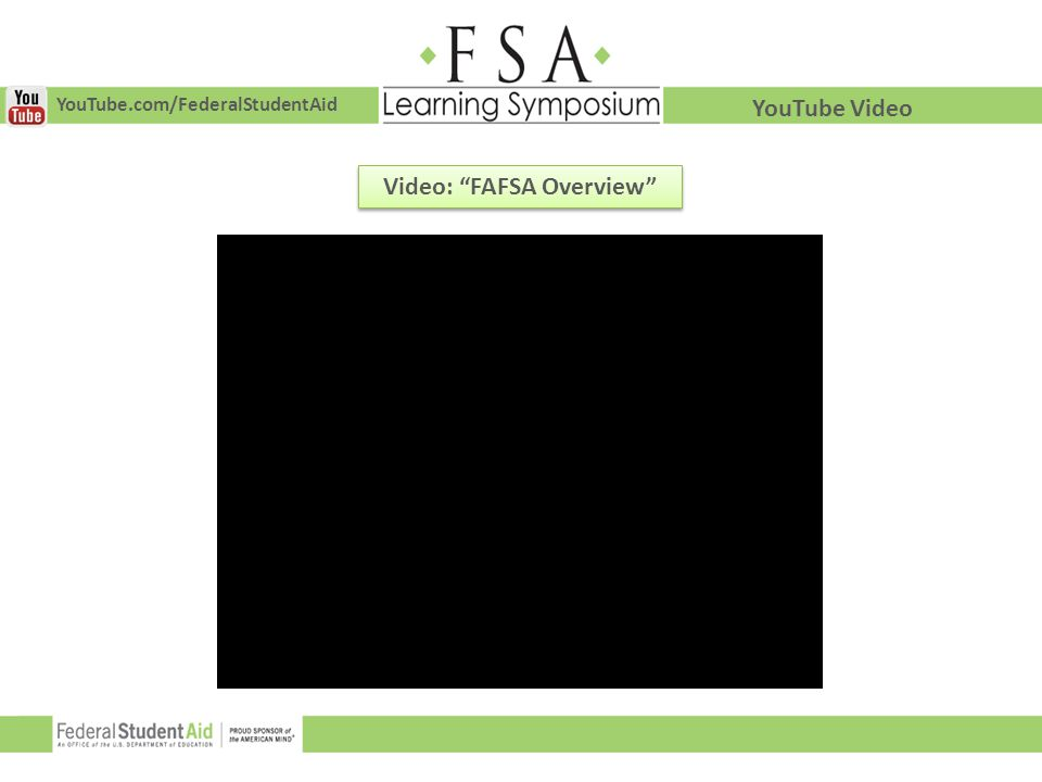 Video: FAFSA Overview