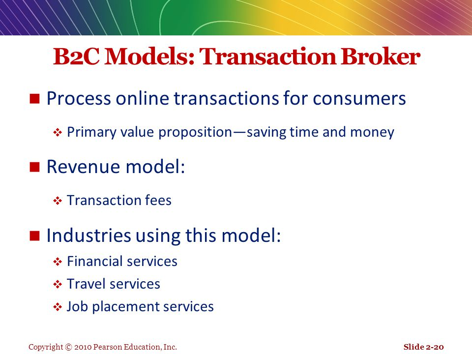 B2C Models: Transaction Broker