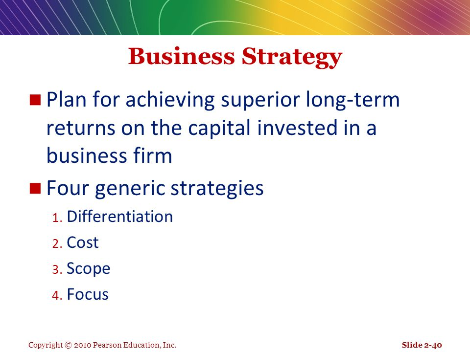 Four generic strategies