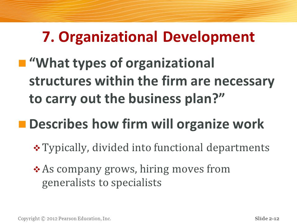 7. Organizational Development