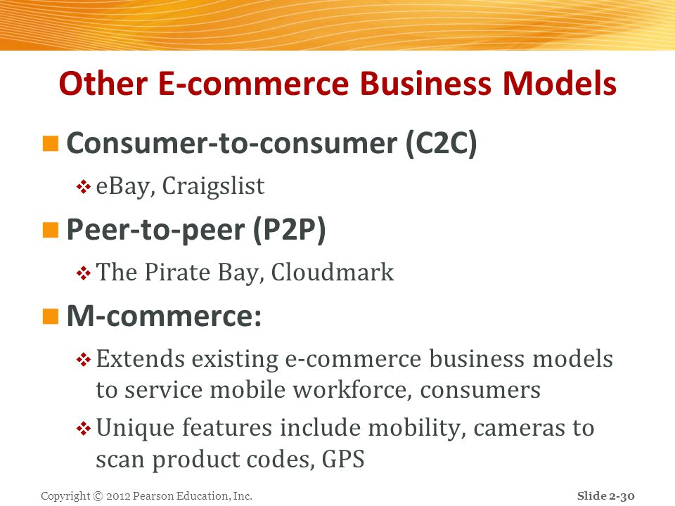 Other E-commerce Business Models
