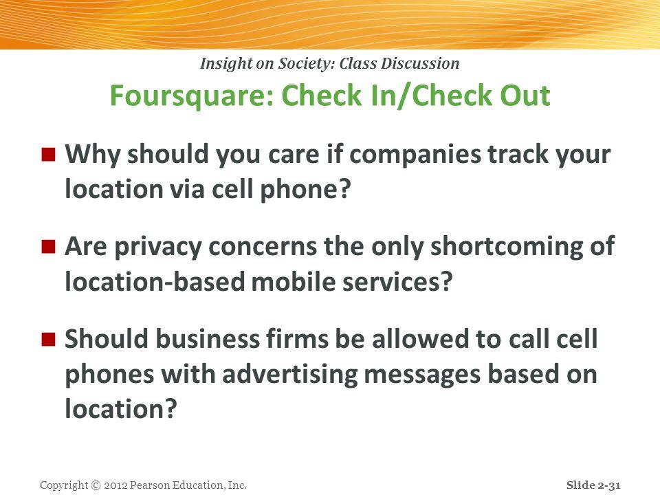 Foursquare: Check In/Check Out