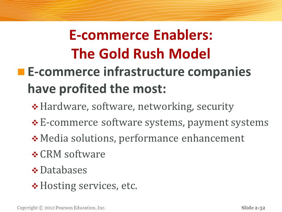 E-commerce Enablers: The Gold Rush Model