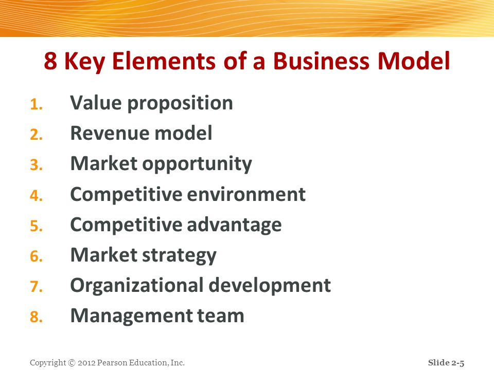 8 Key Elements of a Business Model