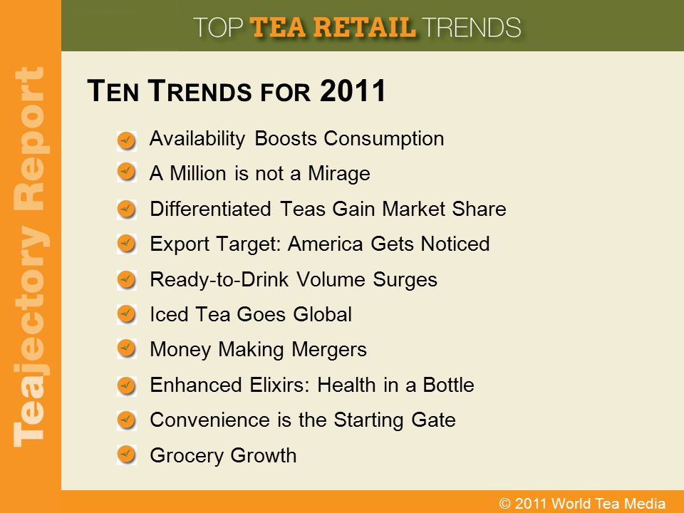 Ten Trends for 2011 Availability Boosts Consumption