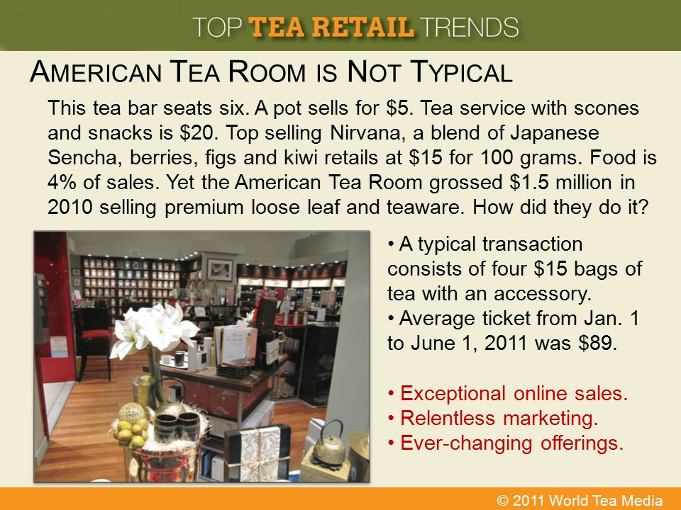 American Tea Room is Not Typical