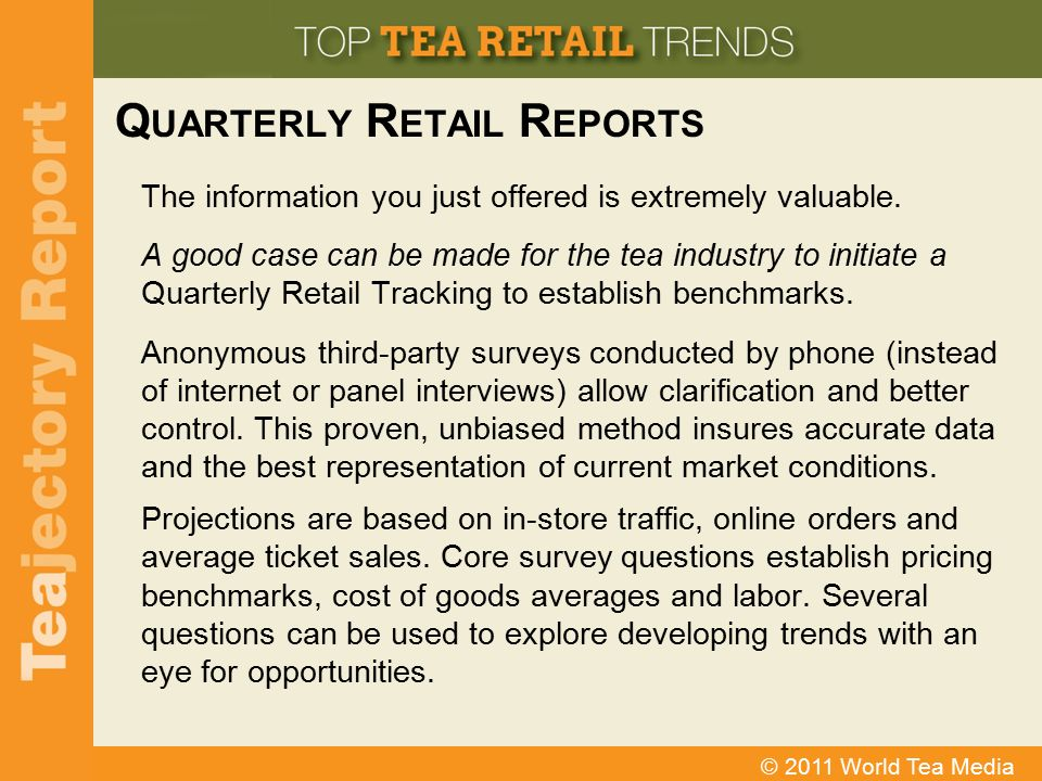 Quarterly Retail Reports