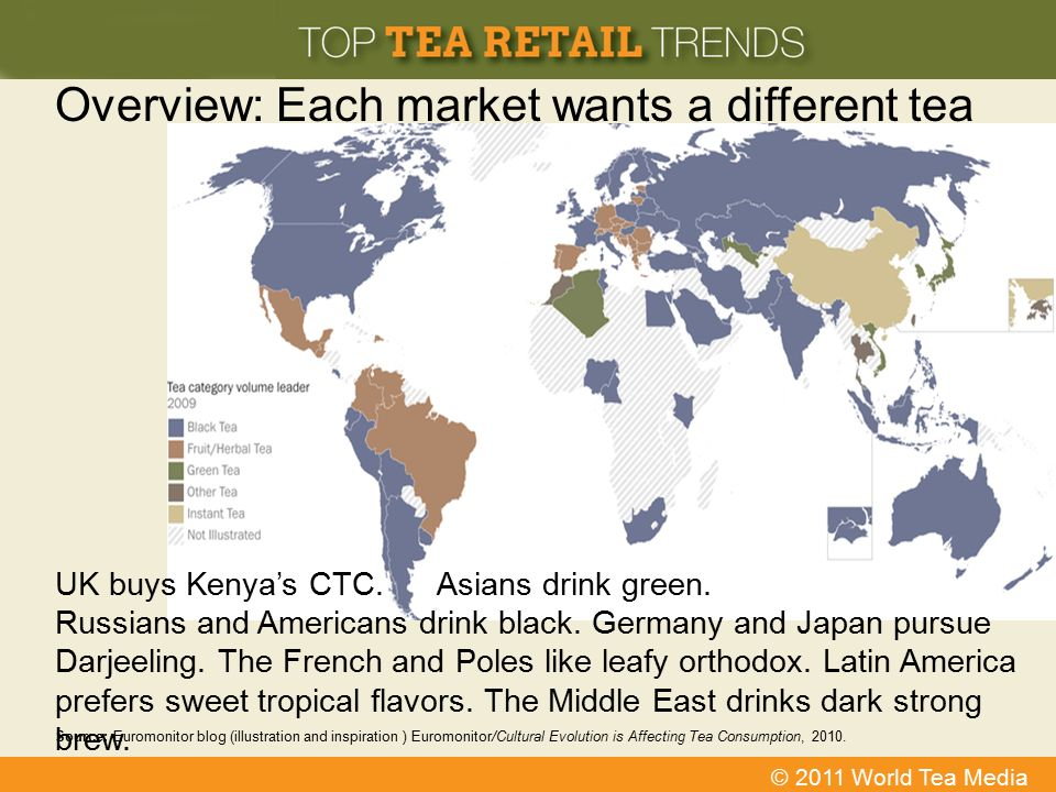 Overview: Each market wants a different tea
