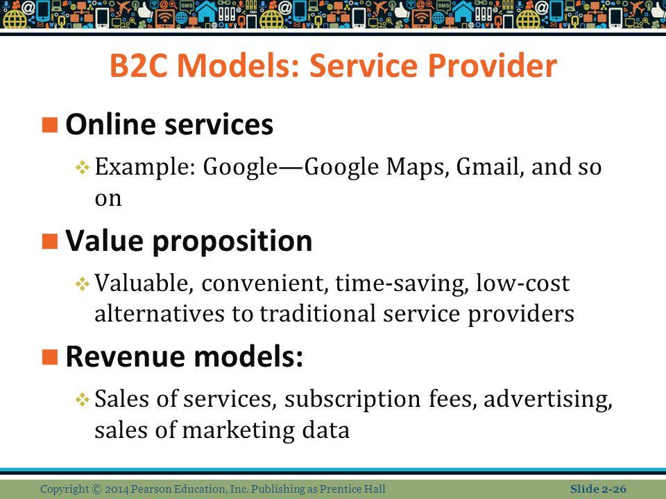 B2C Models: Service Provider