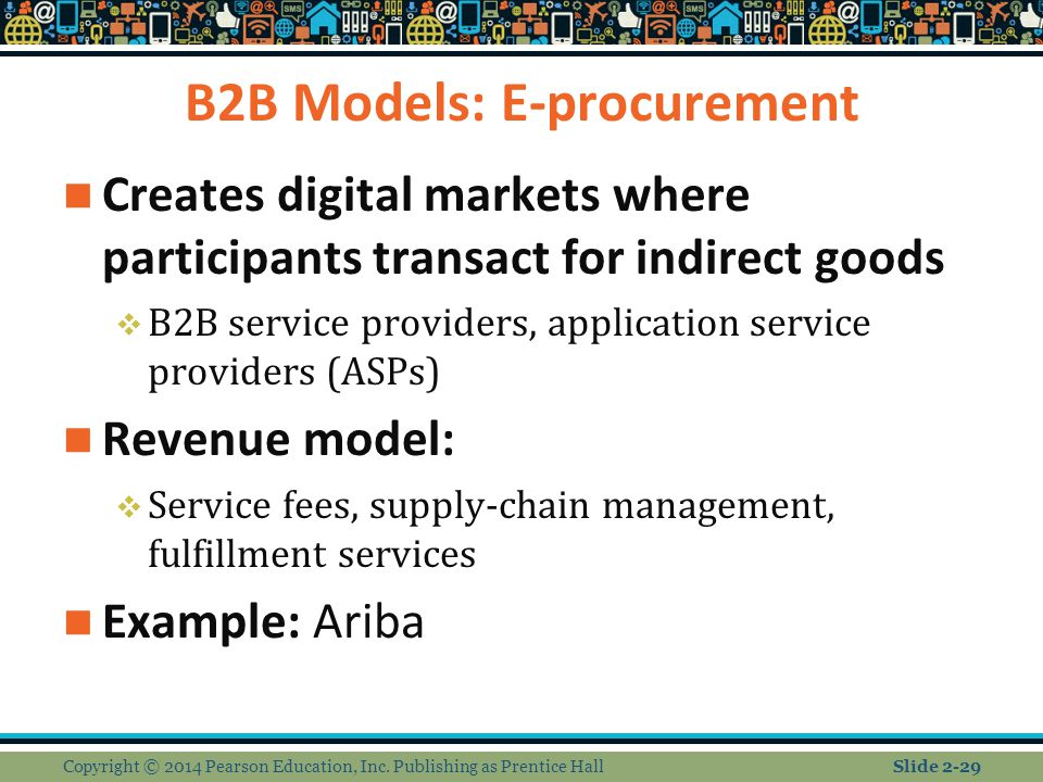 B2B Models: E-procurement
