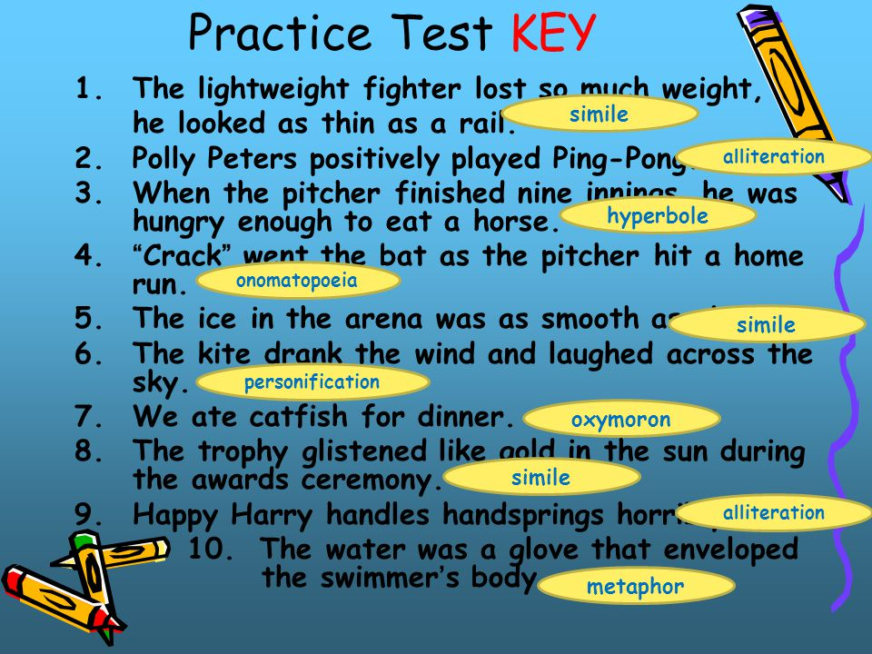 Practice Test KEY The lightweight fighter lost so much weight,