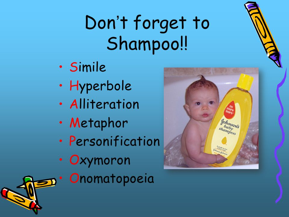 Don't forget to Shampoo!!
