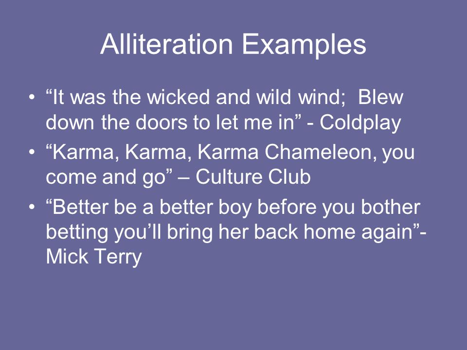 Alliteration Examples