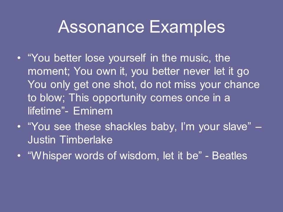 Assonance Examples