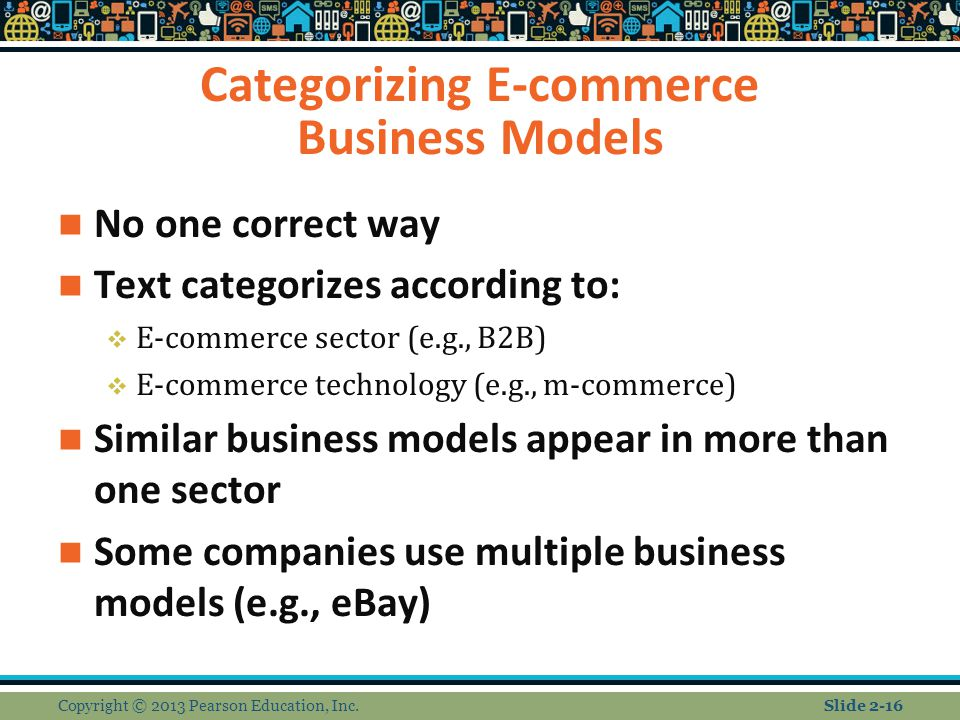 Categorizing E-commerce Business Models