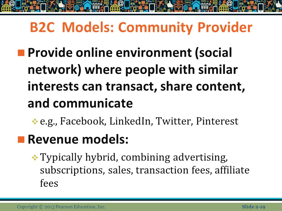 B2C Models: Community Provider