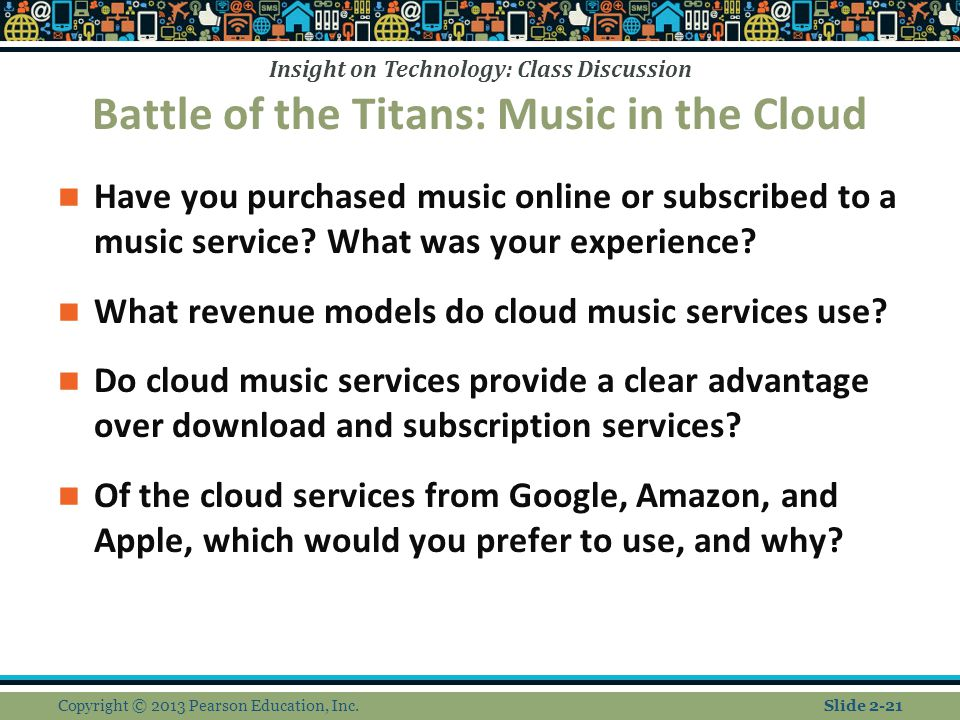 Battle of the Titans: Music in the Cloud