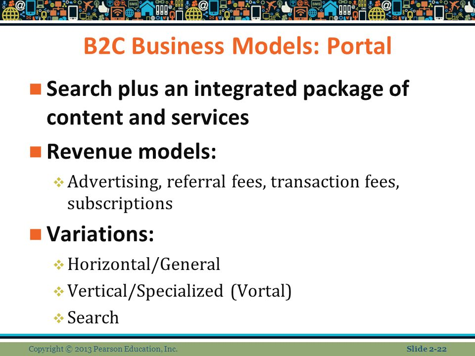 B2C Business Models: Portal