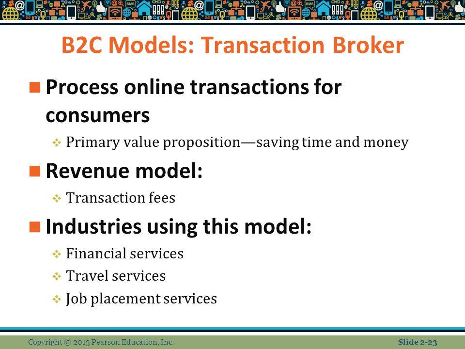 B2C Models: Transaction Broker