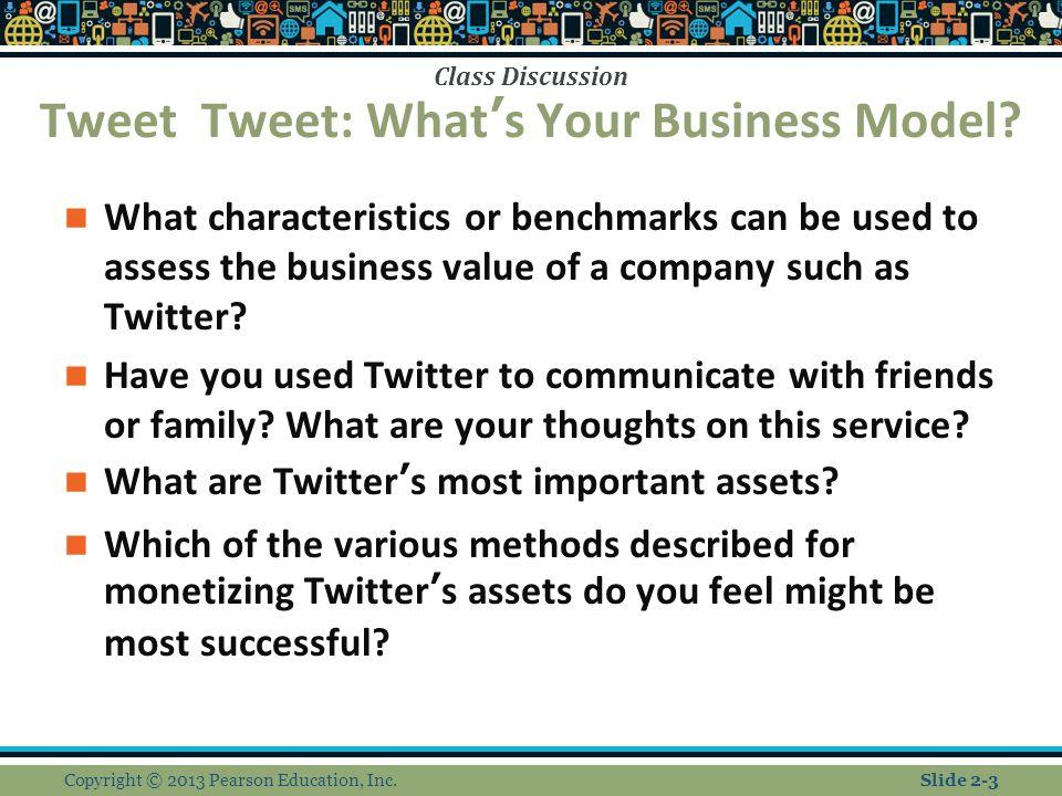Tweet Tweet: What's Your Business Model