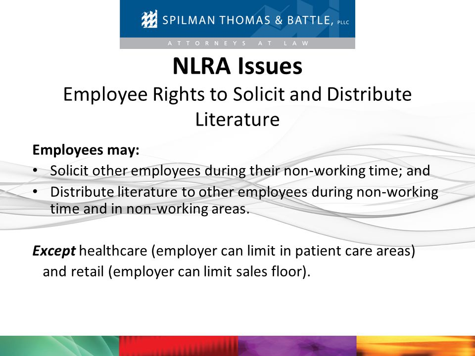 NLRA Issues Employee Rights to Solicit and Distribute Literature