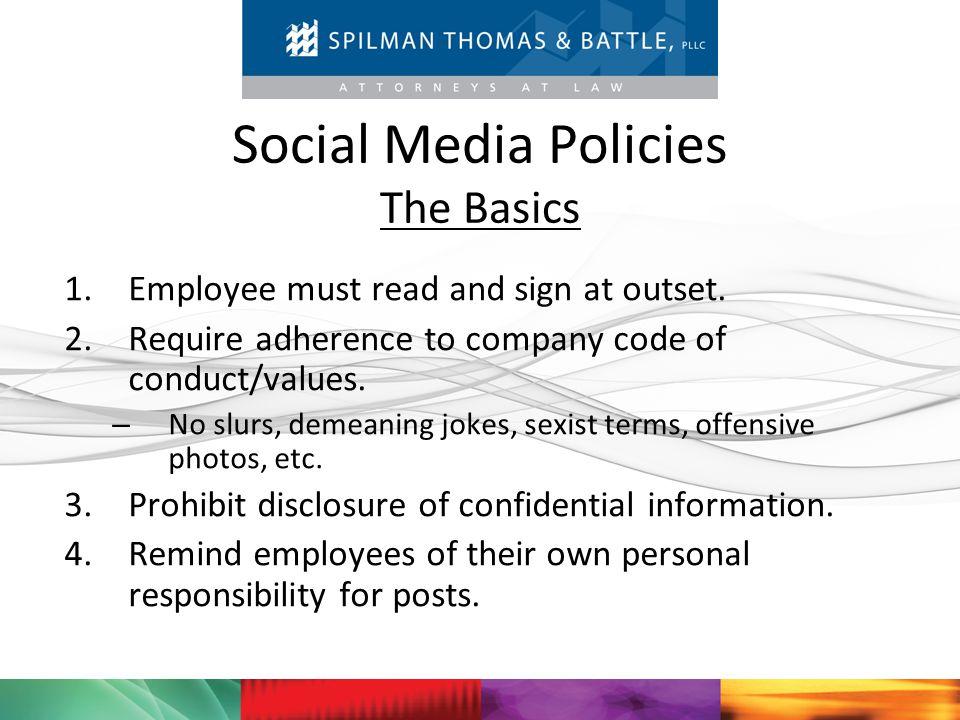 Social Media Policies The Basics