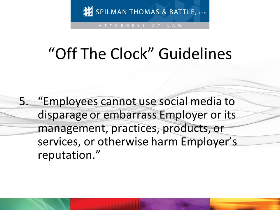 Off The Clock Guidelines