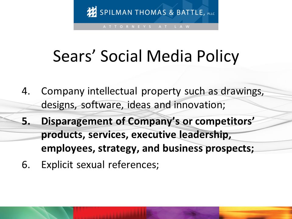 Sears' Social Media Policy