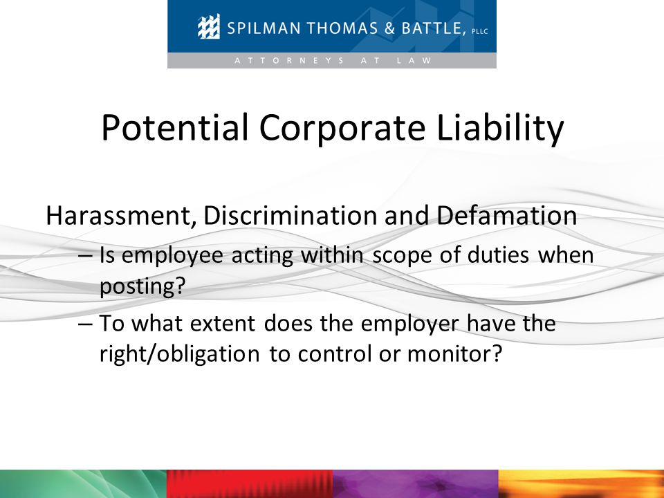 Potential Corporate Liability