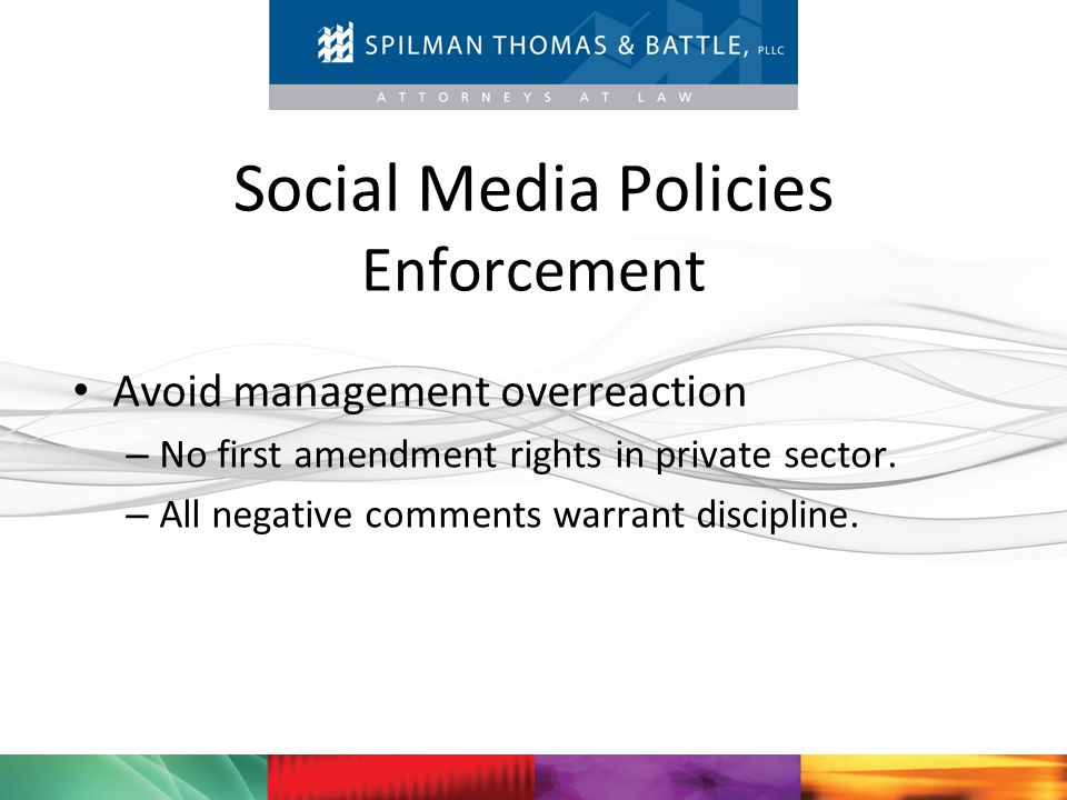 Social Media Policies Enforcement