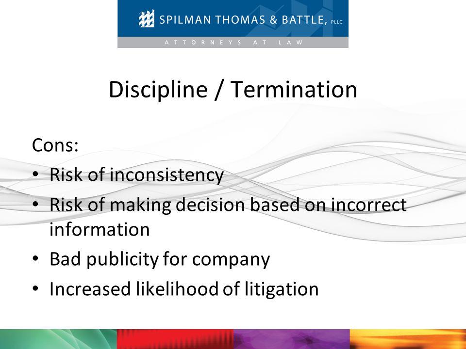 Discipline / Termination