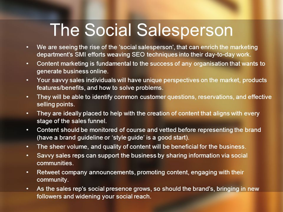 The Social Salesperson
