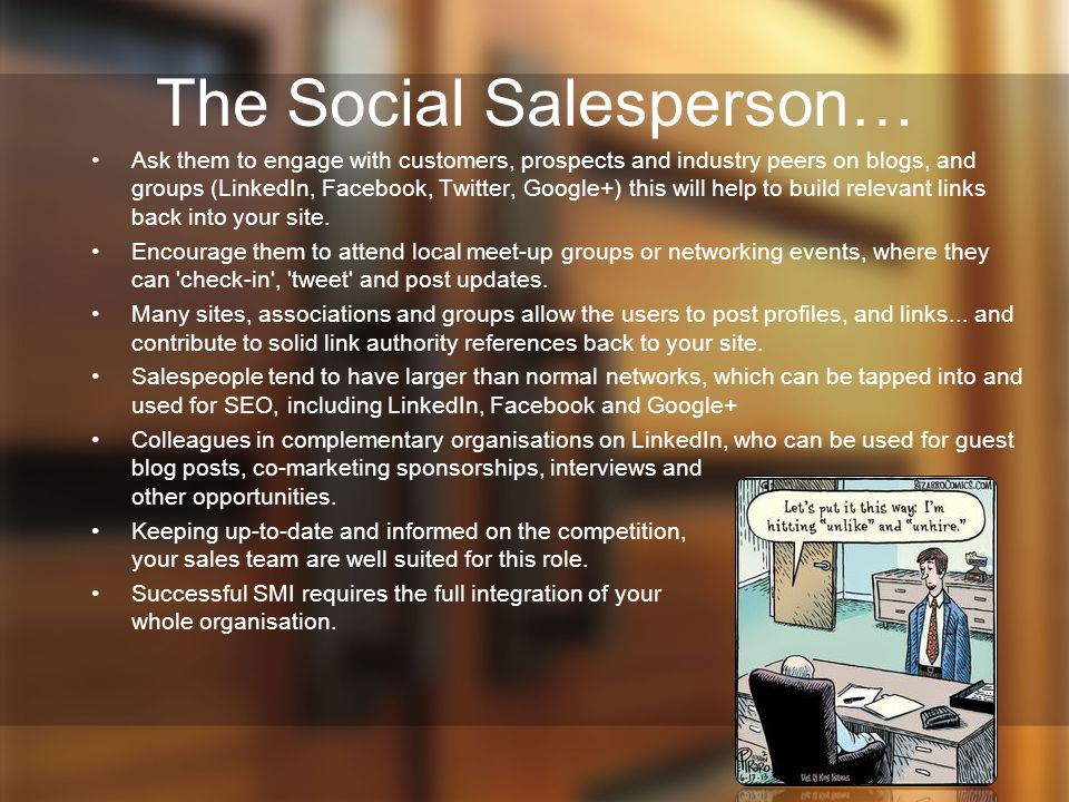 The Social Salesperson…